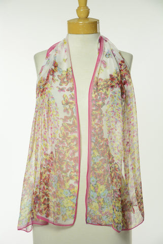 Multi Color Floral Print Scarf S41