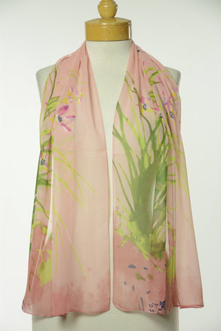 Asian Print Scarf S45