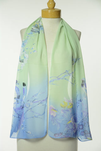 Asian Print Scarf S60
