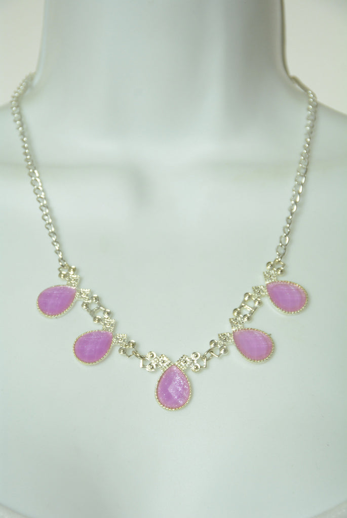 Violet and Silver Necklace 92