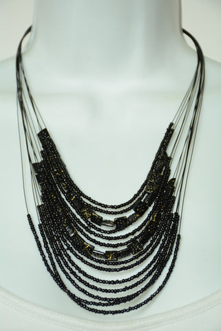 Black Tier Necklace 143