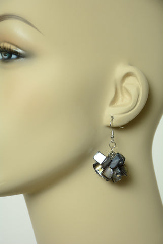 Black Shell Earrings 225