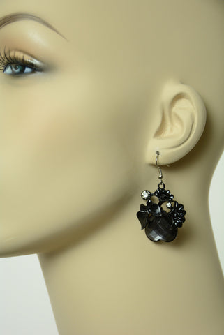 Black Butterfly Earrings 285