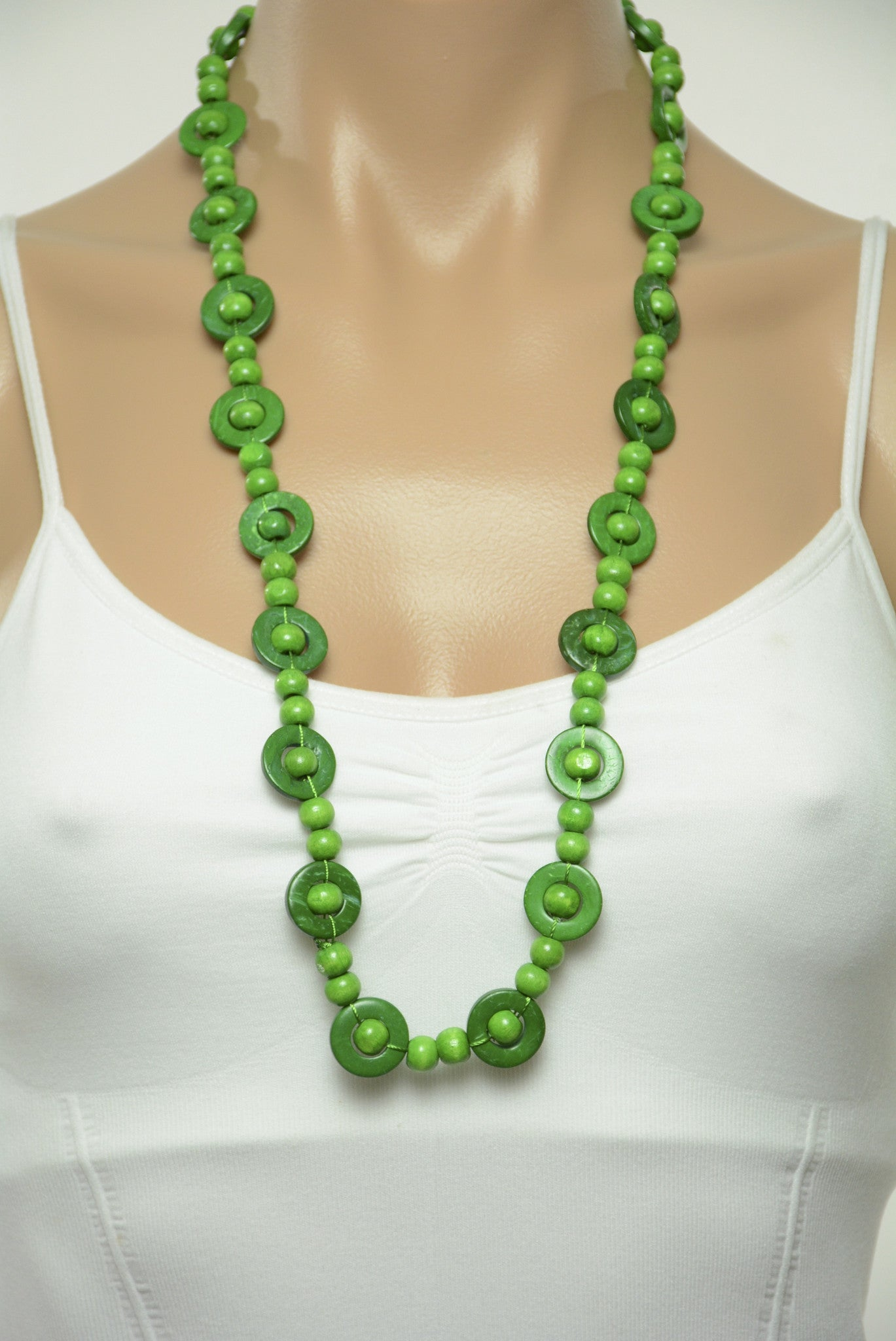products necklace silicone beunique green teething