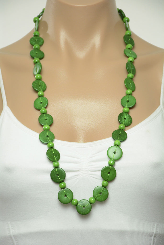villages shop canada products bead necklace all en edgy ten thousand green beaded
