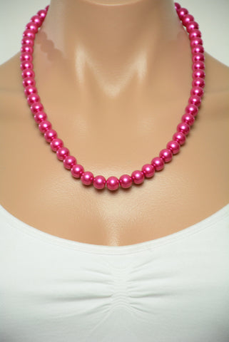 Barbie Pink Pearl Style Necklace 345