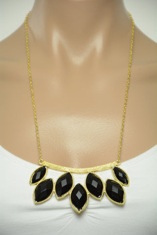 Black and Gold Statement Necklace 375