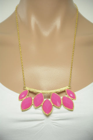 Barbie Pink and Gold Statement Necklace 377