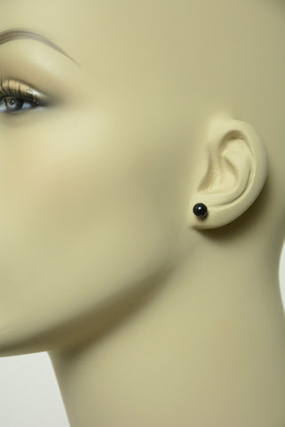 Black Small Ball Stud Earrings 562