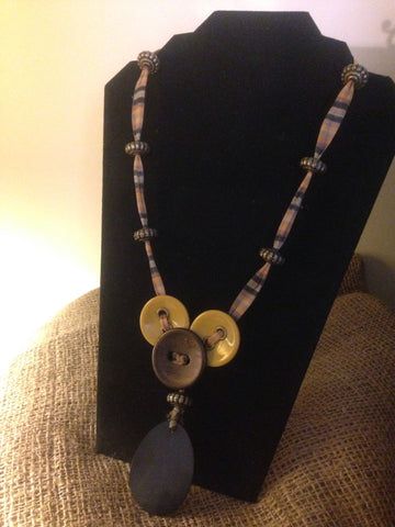 Boho Dreams Collection Buttons Necklace