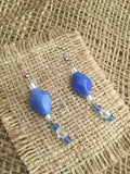 Loving blue earrings