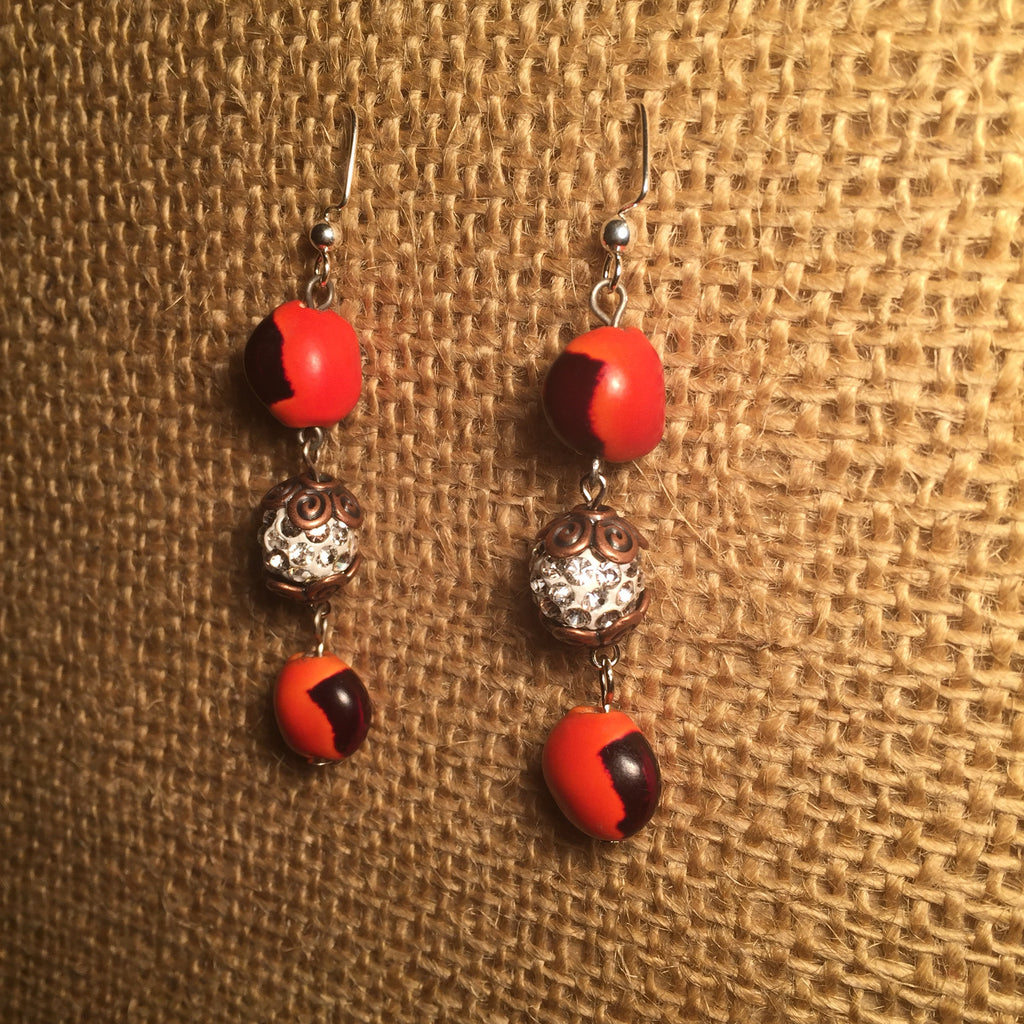Huayruru earrings