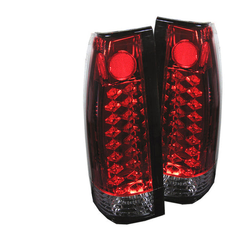 Yukon Denali 99-00 LED Tail Lights - Red Clear-n