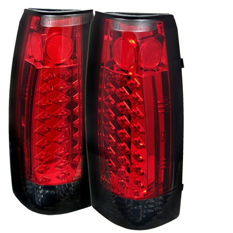 Yukon Denali 99-00 LED Tail Lights - Red Smoke-o