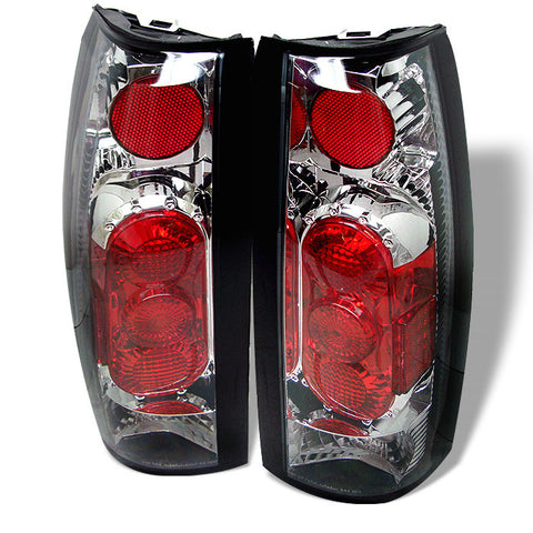 Yukon Denali 99-00 G2 Euro Style Tail Lights - Chrome-j