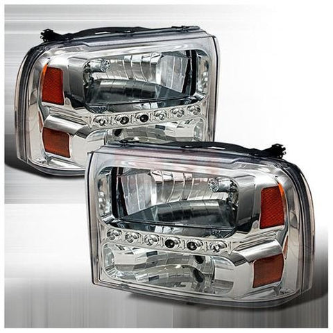 Ford 1999-2004 Ford F250 Led 1Pc Headlights/ Head Lamps-Euro Style Performance 1999,2000,2001,2002,2003,2004
