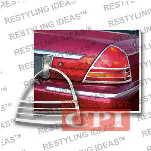Mercury 2003-2007 Grand Marquis Chrome Tail Light Bezel Performance 1 Set Rh & Lh 2003,2004,2005,2006,2007