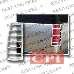 Chevrolet 1988-1998 C/K C10 Pick Up Chrome Tail Light Bezel Performance 1 Set Rh & Lh 1988,1989,1990,1991,1992,1993,1994,1995,1996,1997,1998