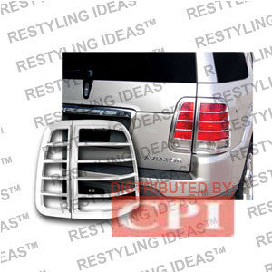 Lincoln 2003-2005 Aviator 4Pcs. Chrome Tail Light Bezel Performance 1 Set Rh & Lh 2003,2004,2005
