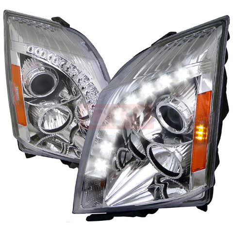 CADILLAC 08-13 CADILLAC CTS HALO PROJECTOR HEADLIGHT CHROME - NOT COMPATIBLE WITH FACTORY XENON    2008,2009,2010, 2011,2012,2013