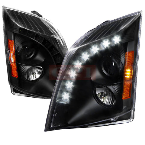 CADILLAC 08-13 CADILLAC CTS HALO PROJECTOR HEADLIGHT BLACK - NOT COMPATIBLE WITH FACTORY XENON    2008,2009,2010,2011,2012,2013