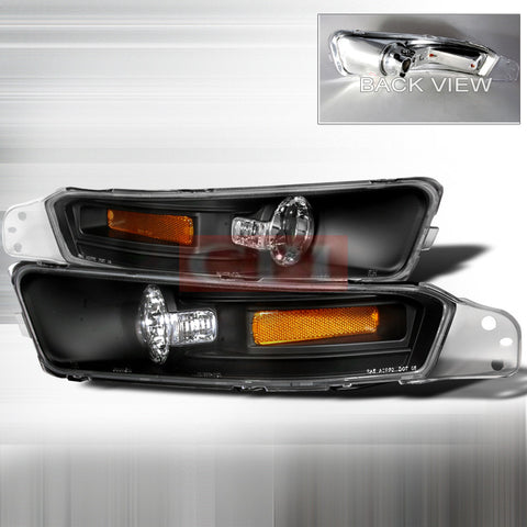 Ford 2005-2007 Ford Mustang Signal Turn Signal/ Bumper Lights/ Lamps Euro Performance 1 Set Rh & Lh 2005,2006,2007-i