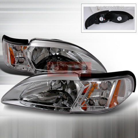FORD 1994-1998 FORD MUSTANG HEADLIGHTS/ HEAD LAMPS WITH CORNER-EURO STYLE   1994,1995,1996,1997,1998