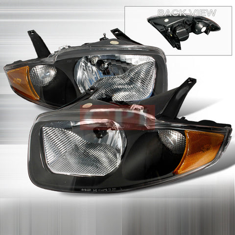 CHEVY 2003-2005 CHEVROLET CHEVY CAVALIER HEADLIGHTS/ HEAD LAMPS BLACK-EURO STYLE   2003,2004,2005