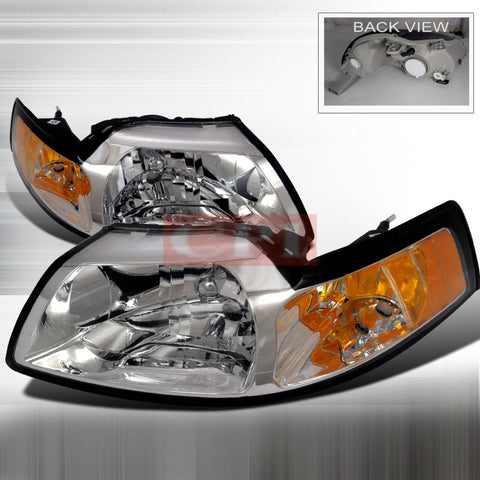 ford 1999 2004 ford mustang headlights head lamps euro style 1999 200 carro pacific carro pacific