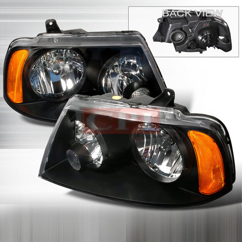 LINCOLN 2003-2005 LINCOLN NAVIGATOR HEADLIGHTS/ HEAD LAMPS-EURO STYLE   2003,2004,2005