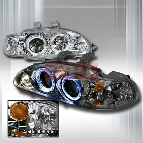 CIVIC 1992-1995 CIVIC 4D PROJECTOR HEAD LAMPS/ HEADLIGHTS 1 SET RH&LH   1992,1993,1994,1995