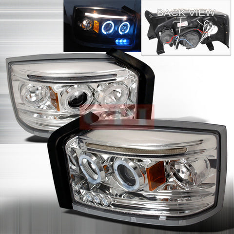 DODGE 2005-2007 DODGE DAKOTA PROJECTOR HEAD LAMPS/ HEADLIGHTS 1 SET RH&LH   2005,2006,2007