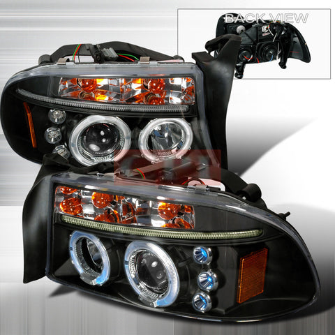 DODGE 1997-2004 DODGE DAKOTA DURANGO LED PROJECTOR HEAD LAMPS 1 SET RH&LH   1997,1998,1999,2000,2001,2002,2003,2004