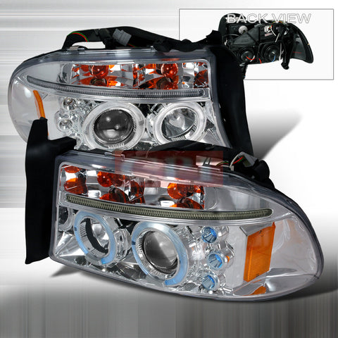DODGE 1997-2001 DODGE DAKOTA PROJECTOR HEAD LAMPS/ HEADLIGHTS 1 SET RH&LH   1997,1998,1999,2000,2001