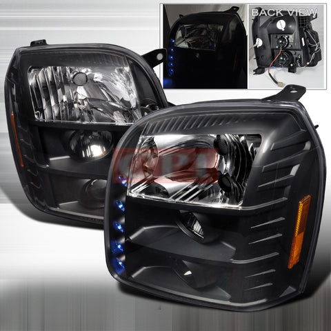GMC 07-10 GMC YUKON DENALI - BLACK PROJECTOR HEAD LIGHTS/ LAMPS -   1 SET RH & LH 2007,2008,2009,2010