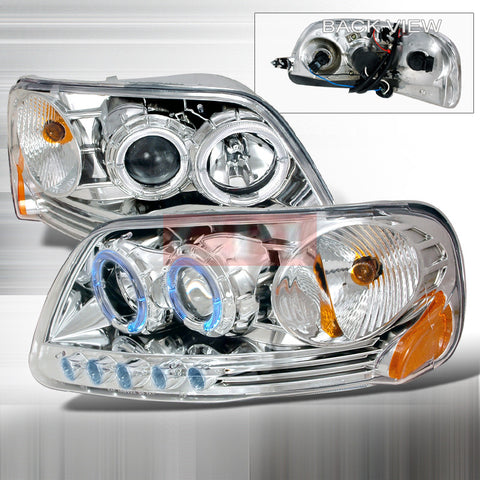 Ford 1997-2003 Ford F150 1Pc Projector Head Lamps/ Headlights-g