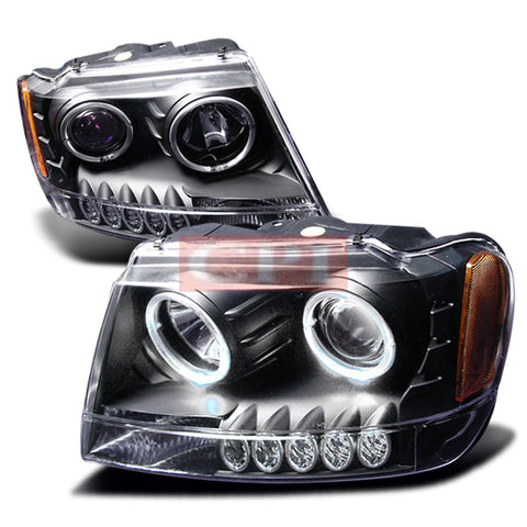 Grand 1999-2004 Grand Cherokee Projector Head Lamps/ Headlights-t