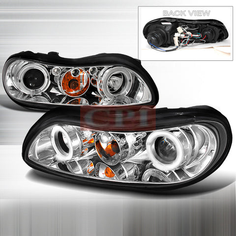 CHEVROLET 1997-2003 CHEVY MALIBU PROJECTOR HEAD LAMPS/ HEADLIGHTS 1 SET RH&LH   1997,1998,1999,2000,2001,2002,2003
