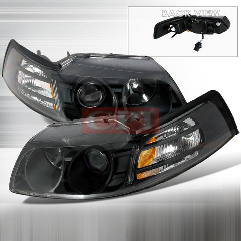 Ford 1999-2004 Ford Mustang Projector Head Lamps/ Headlights-a
