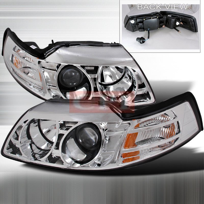 ford 1999 2004 ford mustang projector head lamps headlights 1 set rh carro pacific carro pacific