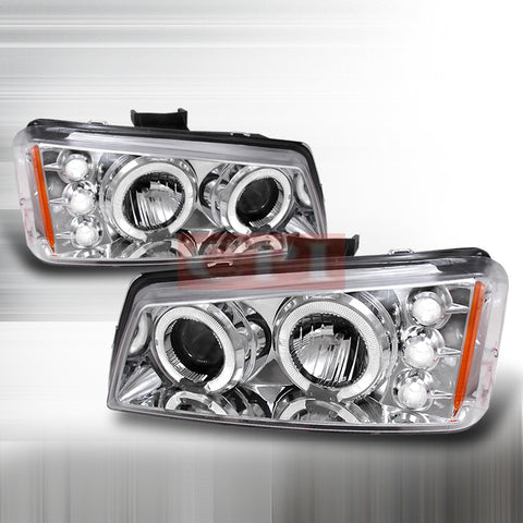 CHEVROLET 2003-2006 CHEVY SILVERADO HALO PROJECTOR HEAD LAMPS/ HEADLIGHTS 1 SET RH&LH   2003,2004,2005,2006