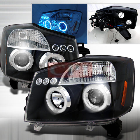 Nissan 2004-2006 Nissan Titan Projector Head Lamps/ Headlights 1 Set Rh&Lh Performance 2004,2005,2006-k