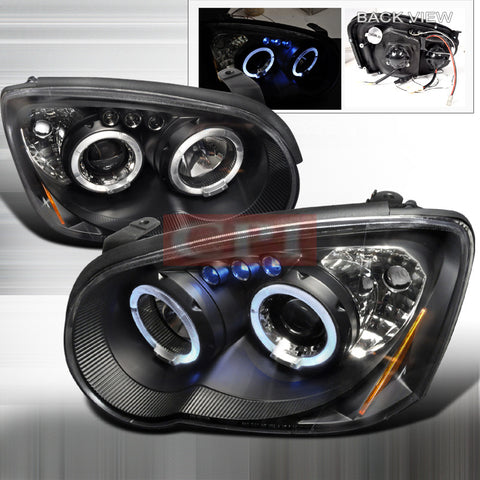 SUBARU 04-05 SUBARU IMPREZA - BLACK PROJECTOR HEAD LIGHTS/ LAMPS -   1 SET RH & LH 2004,2005