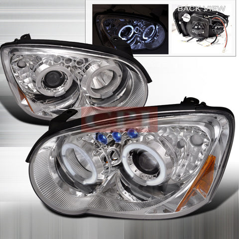 SUBARU 04-05 SUBARU IMPREZA - CHROME PROJECTOR HEAD LIGHTS/ LAMPS -   1 SET RH & LH 2004,2005