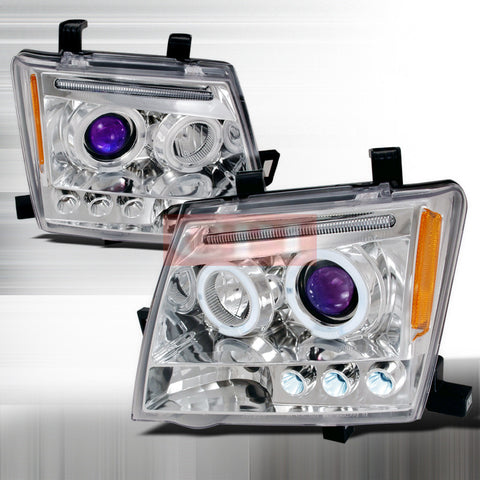 Nissan 2005-2007 Nissan Xterra Halo Projector Head Lamps/ Headlights-j