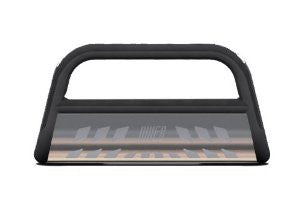Chevrolet Silverado 3500 Hd 07-10 Chevrolet Silverado 3500 Hd Black Bull Bar 3Inch With Stainless Skid Grille Guards & Bull Bars Stainless