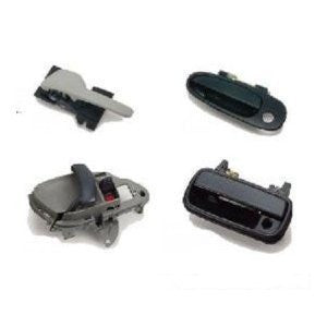 FORD 00-03 FORD F150 CREW/SUPER CAB & 99-02 EXPEDITION FRT OUTSIDE DOOR HANDLE LH SMOOTH BLACK w/KEY PAD & LOCK HOLE