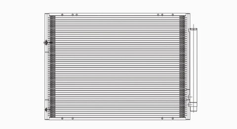 Toyota 04-10 Toyota Sienna W/ R/D Ac Condenser (Pfc) (1) Pc Replacement 2004,2005,2006,2007,2008,2009,2010