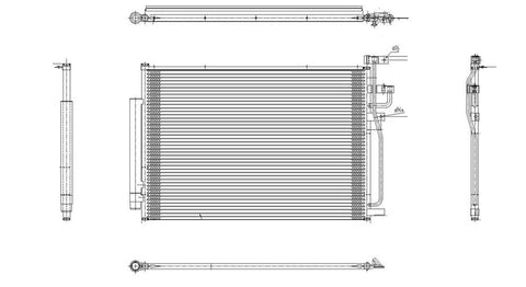 Saturn 08-10 Saturn Vue /Vue Hybrid W/ R/D Ac Condenser (Pfc) (1) Pc Replacement 2008,2009,2010