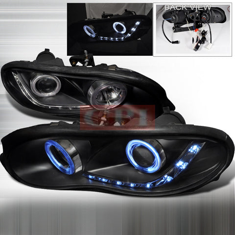 CHEVROLET/ CHEVY 98-02 CHEVY CAMARO - BLACK CCFL PROJECTOR HEAD LIGHTS - APC- 1 SET RH & LH 1998,1999,2000,2001,2002